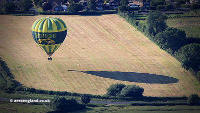Heritage Baloons landing at Dunnington in Yorkshire