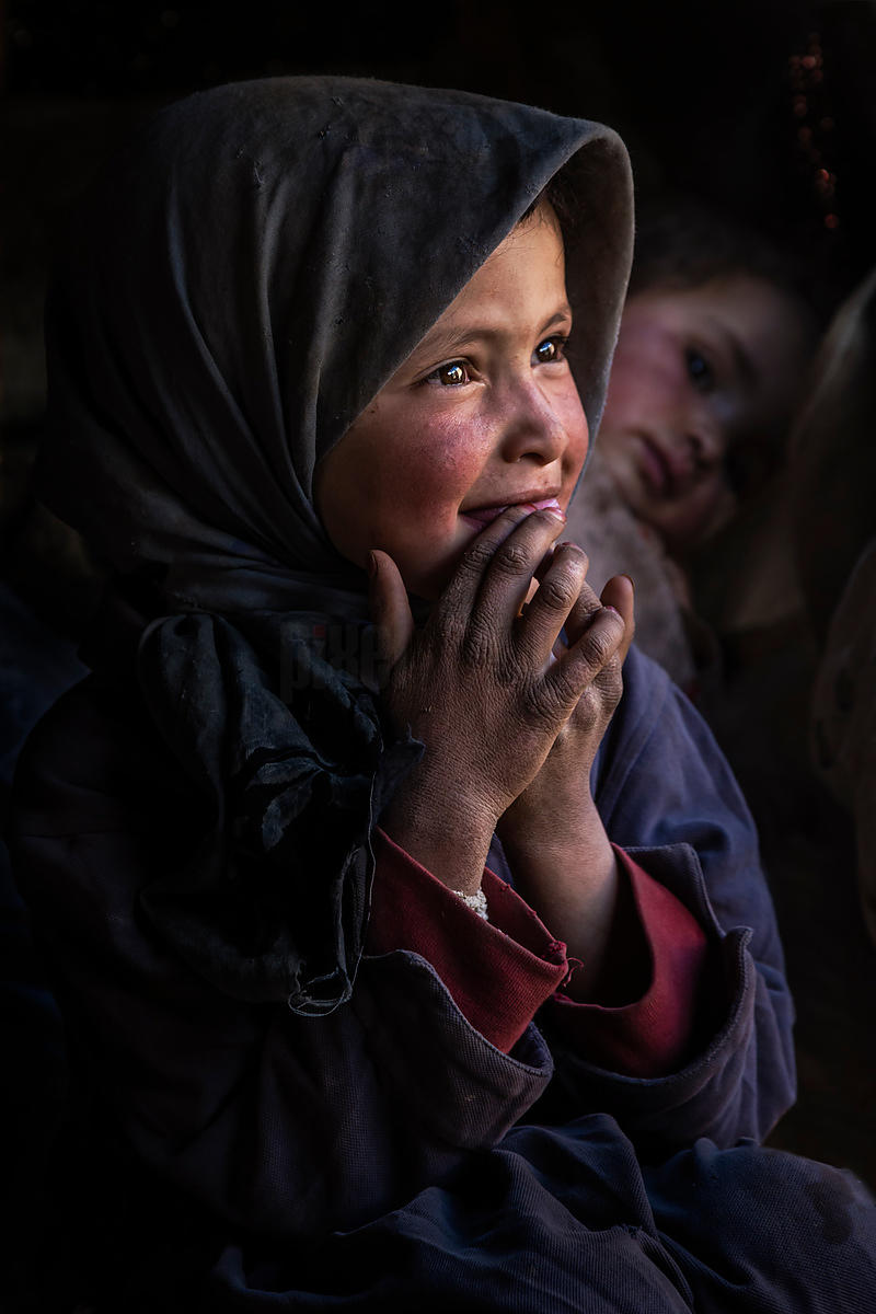 Portrait of a Young Nomadic Girl