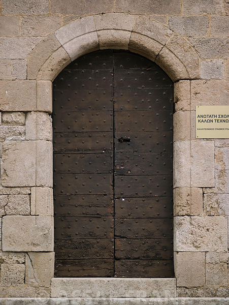 Door at the palace of the grand masters, Rhodes Greece