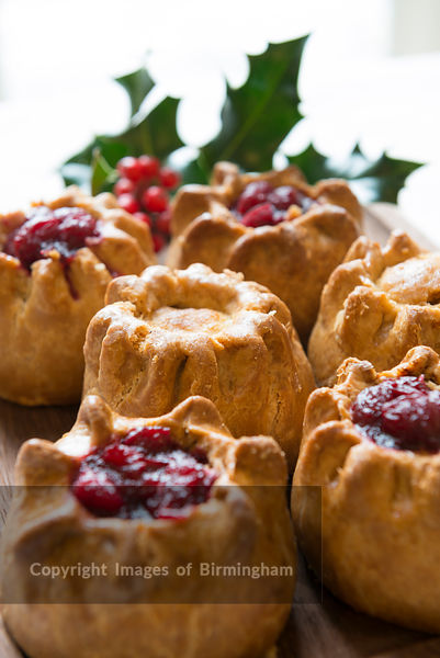 Pork pies with cranberries