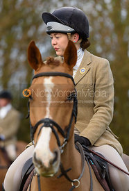 Sophie Pedlar at the meet - The Belvoir Hunt at The Wolds Farm 3/12