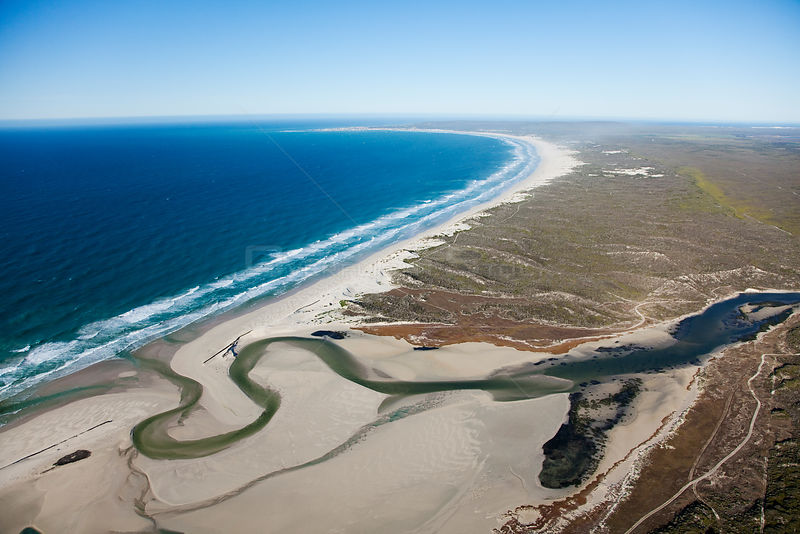Aerial photograph, de Mond Nature Reserve, South Africa, Western Cape Province, Indian Ocean, August 2010
