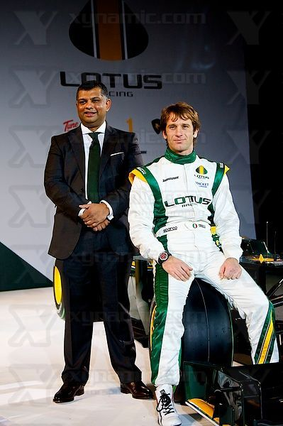 Tony Fernandes (MAS),  Jarno Trulli (ITA), Lotus Cosworth T127 F1 Launch, Royal Horticultural Hall, London, GBR