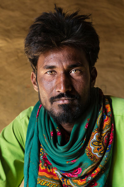 Portrait of a Pathan Tribal Man