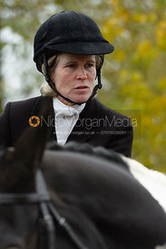 Jane Harris at the meet - The Cottesmore at The Fox and Hounds
