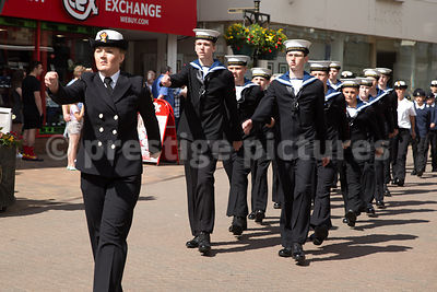 Sea Cadets Marching though Banbury High Street