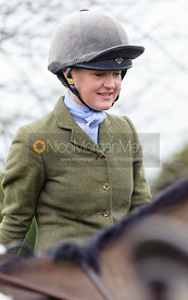 Eliza Stoddart at the meet at Ladywood Lodge