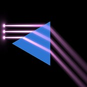 Light beams passing through a triangular prism #2