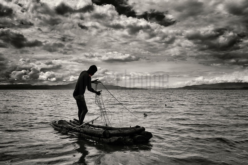 Tilapia Fisherman on Lake Chamo