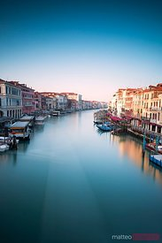 Grand canal at sunrise Venice Italy