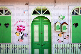 House decorated for International Woman's Day, Iquique , Region I , Chile