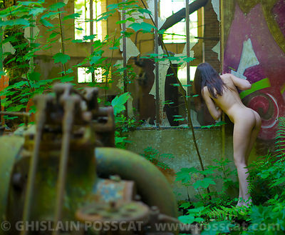 erotic pics - naked young lady urbex - erotic photographer