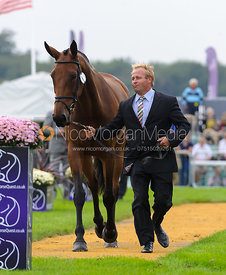 Andrew Heffernan and MILLTHYME COROLLA - The first vets inspection (trot up),  Land Rover Burghley Horse Trials, 3rd September 2014.