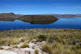 View over Lake Umayo from Sillustani, Peru