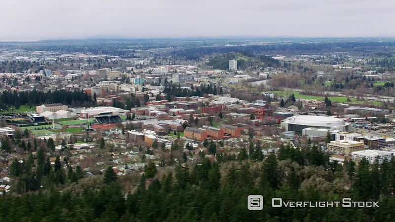 Aerial view of Eugene, Oregon