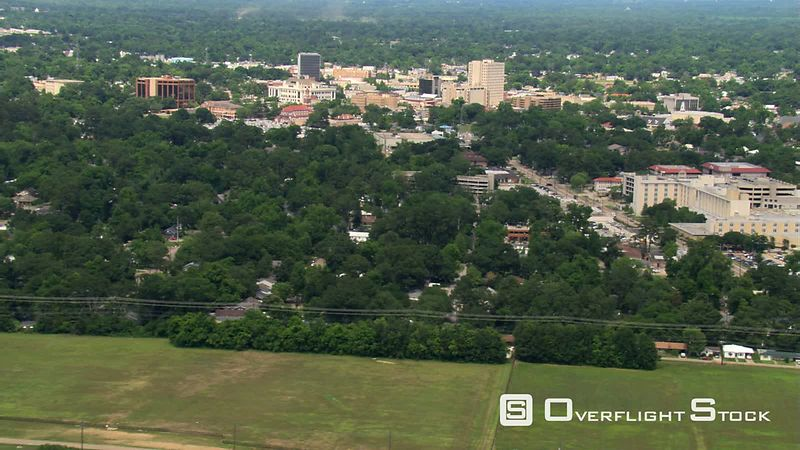 Wide aerial view of Lafayette, Louisiana.