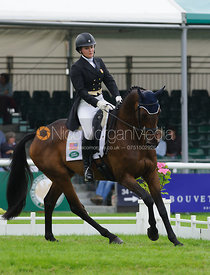 Hannah Sue Burnett and HARBOUR PILOT - dressage phase,  Land Rover Burghley Horse Trials, 4th September 2014.