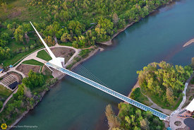 Sundial Bridge From the Air #23