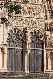Central portal of Bourges cathedral
