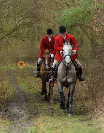 Huntsman John Holliday followed by Michael Dungworth - The Belvoir at Burton Pedwardine
