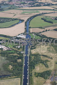 Wakefield aerial photograph of the Aire and Calder Navigation Canal