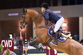 Bordeaux, France, 2.2.2018, Sport, Reitsport, Jumping International de Bordeaux - . Bild zeigt Edwina TOPS-ALEXANDER (AUS) riding California (5*)...2/02/18, Bordeaux, France, Sport, Equestrian sport Jumping International de Bordeaux - . Image shows Edwina TOPS-ALEXANDER (AUS) riding California (5*).