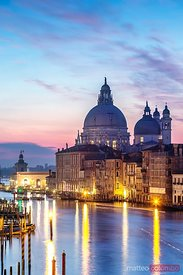 Salute church at sunrise, Venice, Italy