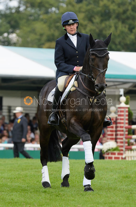 Kerry Varley and BLUESTONE LUKE - show jumping phase, Burghley Horse Trials 2014.