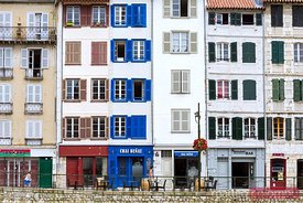 Typical buildings, Bayonne, french Basque country, France