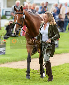 Pippa Funnell and MAJAS HOPE at the trot up, Land Rover Burghley Horse Trials 2018