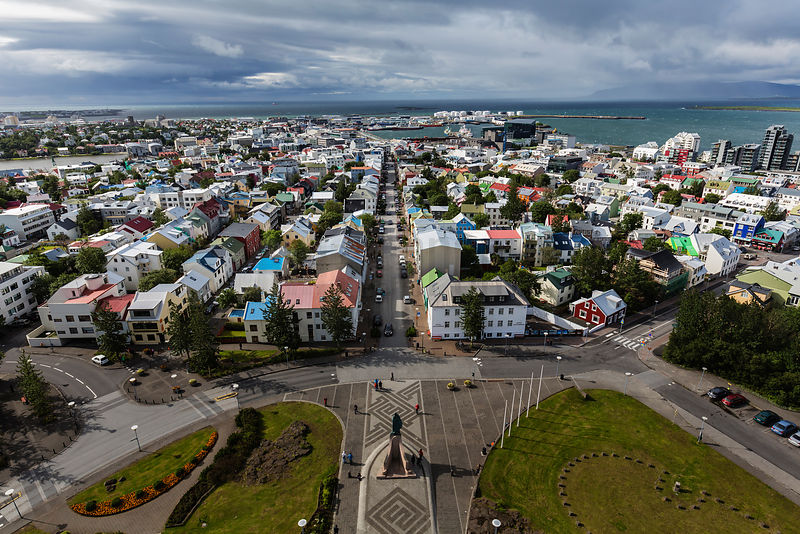 View of Reykjavik from the Tower of Hallgrimskirkje
