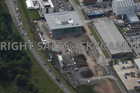 Warrington aerial photograph of new developments Birchwood Park