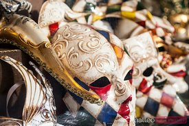 Carnival masks in a shop, Venice, Italy