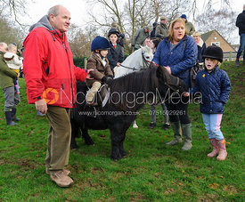A young follower and their Shetland pony - The Cottesmore Hunt's Boxing Day meet 2013.