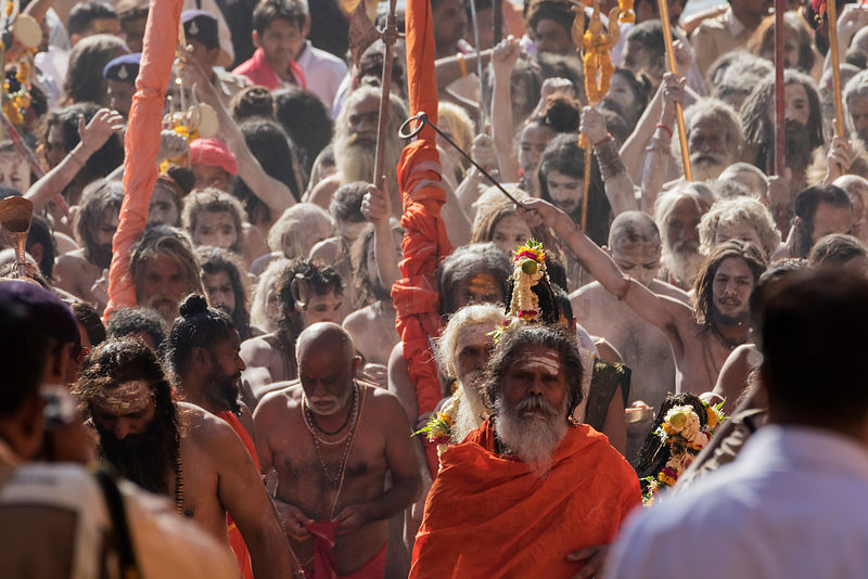 Naga Sadhus March after a Holy Dip During Simhasth Kumbh Mahaparv Mela