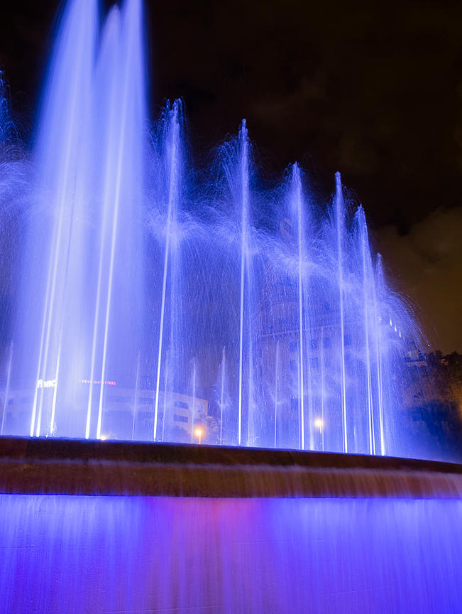 Colorful Fountain at Night - Barcelona, Spain