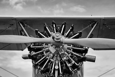 Stearman Biplane Radial Engine and Propeller
