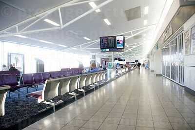 Departure lounge at Edinburgh Airport