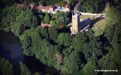 aerial photograph of Church of St Andrew's Church  Denton Lincolnshire