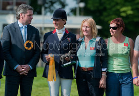 Mary King at the prizegiving, Badminton Horse Trials 2011