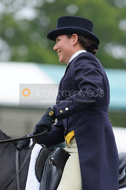 Kerry Varley and BLUESTONE LUKE - dressage phase,  Land Rover Burghley Horse Trials, 4th September 2014.