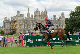 Louisa Lockwood and BALLYFARRIS FLIGHT - cross country phase,  Land Rover Burghley Horse Trials, 7th September 2013.