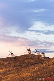 Famous windmills of Castile La Mancha, Toledo, Spain