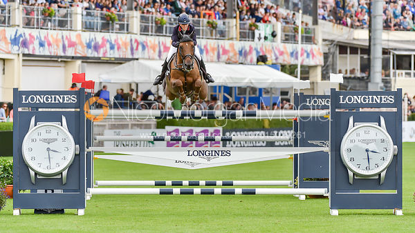 Harriet Nuttall and GALWAY BAY JED - FEI Nations Cup, Dublin Horse Show 2017
