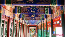 Decorated passage in the summer palace, Beijing