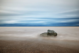 Landscape | Canvas wall art | Lone rock on the shore
