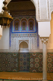 Inside the Mausoleum of Moulay Ismail, Meknes, Morocco; Portrait