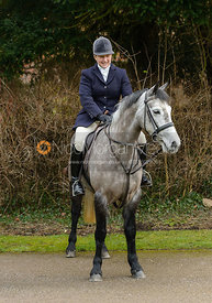 Holly Campbell at the Cottesmore Hunt meet at Little Dalby Hall