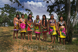 Emberå women at Nuevo Vigia in the Darién Panama