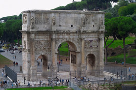 Arch of Constantine, Forum, Rome, Italy; Portrait